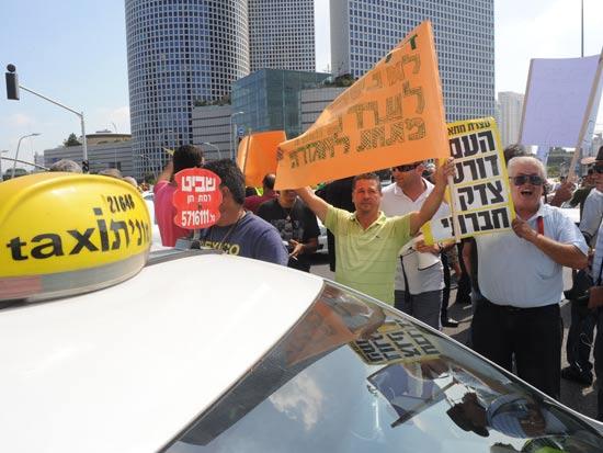 מחאת המוניות / צלם: אבשלום ששוני